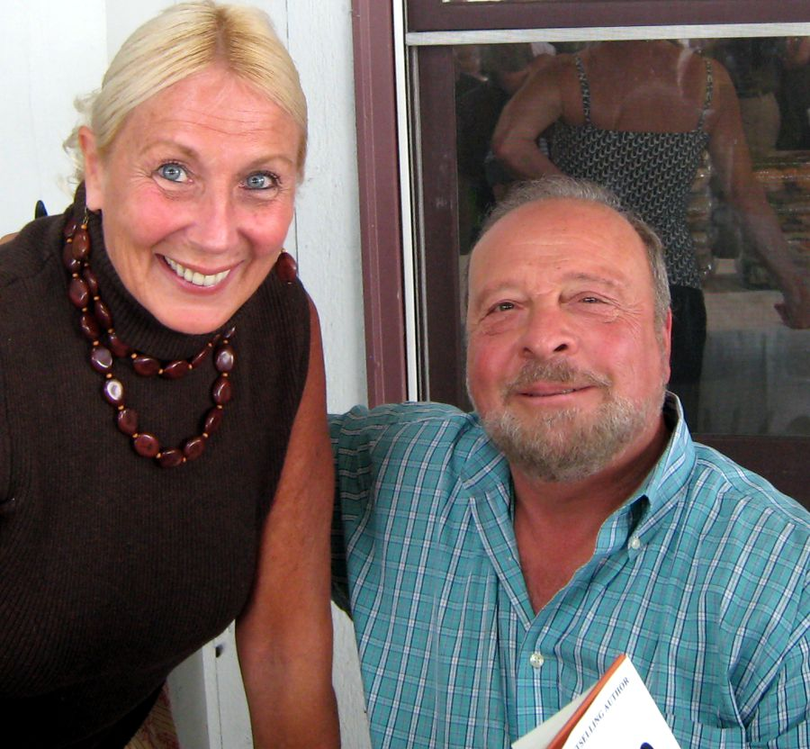 with Nelson DeMille, at Palmer Vinyards, North Fork Long Island