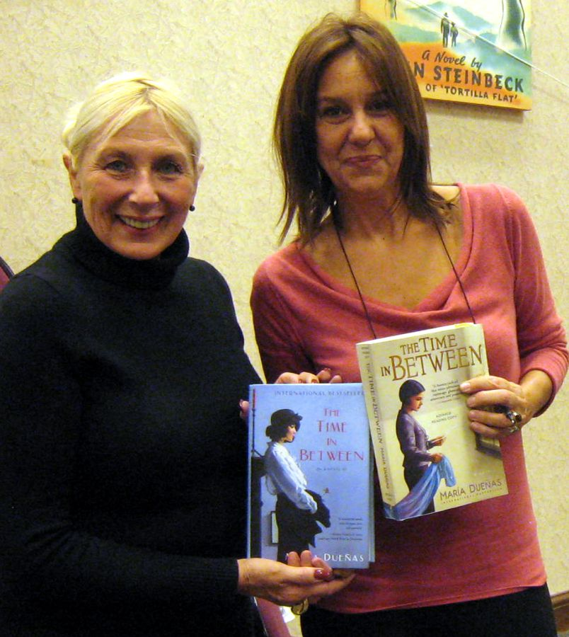 with international author, Maria Duenas, THE TIME IN BETWEEN